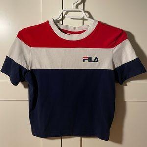 Fila Cropped Tee Shirt